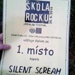 Silent Scream - vítězství v soutěži Škola Rocku 2015