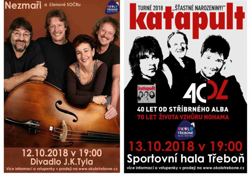 V Třeboni slavíme 12. a 13. října 150 let s Nezmary a Katapultem